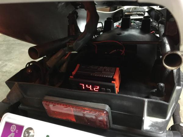 NSR250R ラジエターファン増設 デジタル制御 17